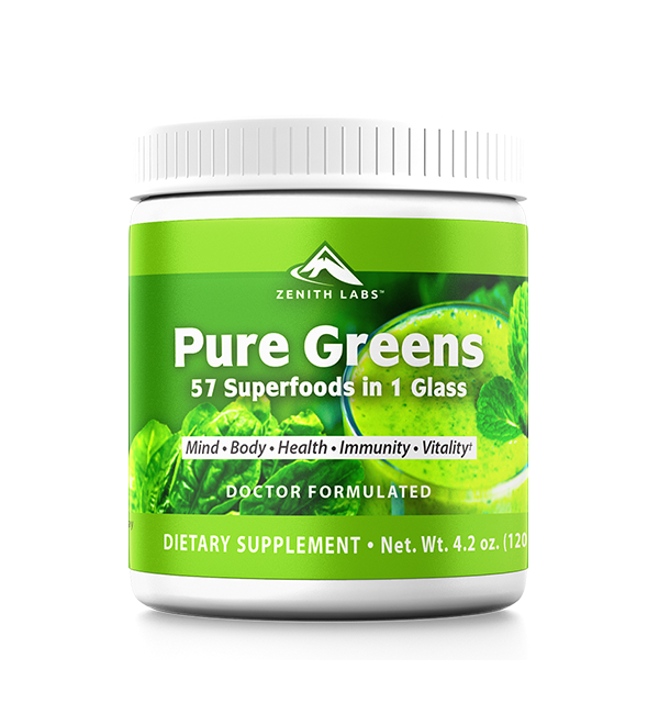 Pure Greens supplement by zenith labs