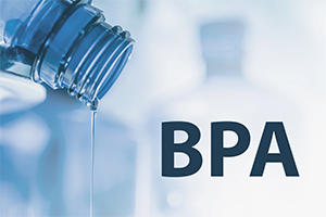 BPA in a plastic water bottle