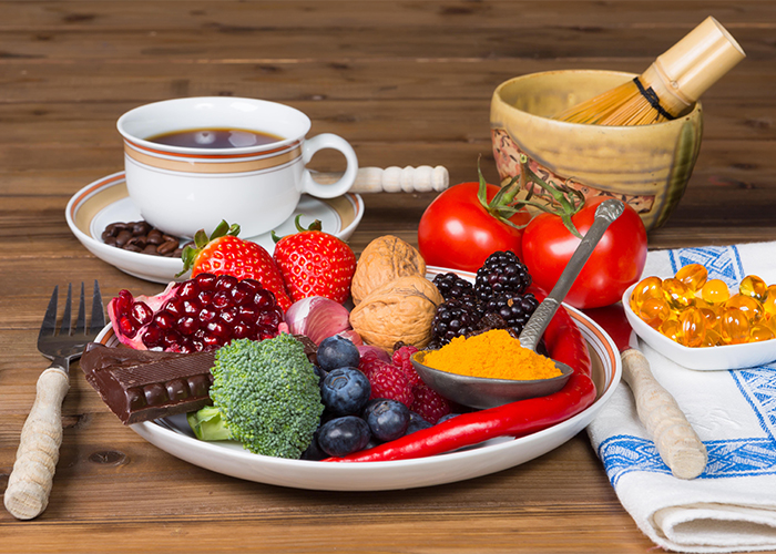 breakfast foods with antioxidants and supplements