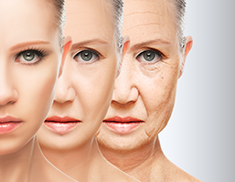 faces of three women aging