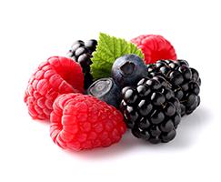 blueberries, raspberries, blackberries for superfood smoothie