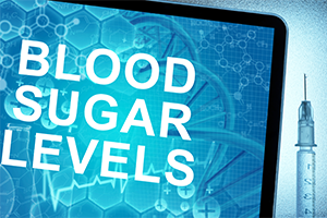 computer screen with words blood sugar levels