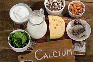 calcium-rich food sources such as milk, spinach, cheese, and yoghurt