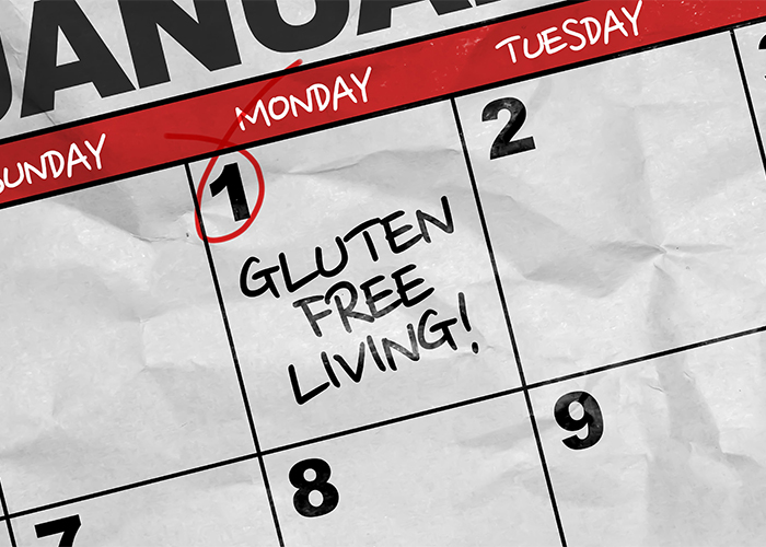 calendar showing the start of gluten-free living