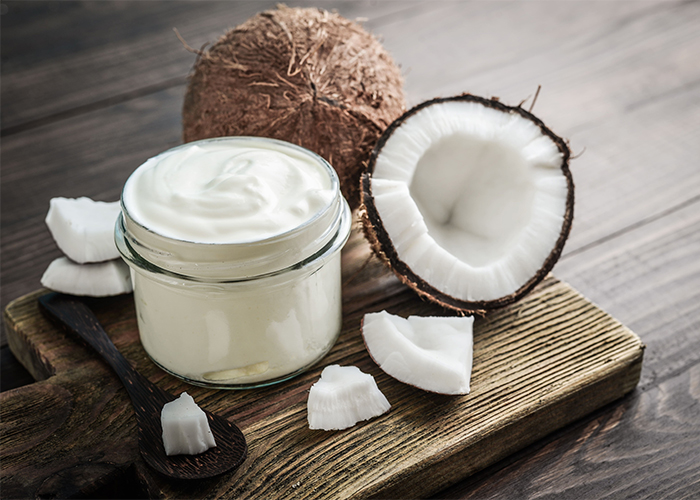 coconut and coconut yogurt together