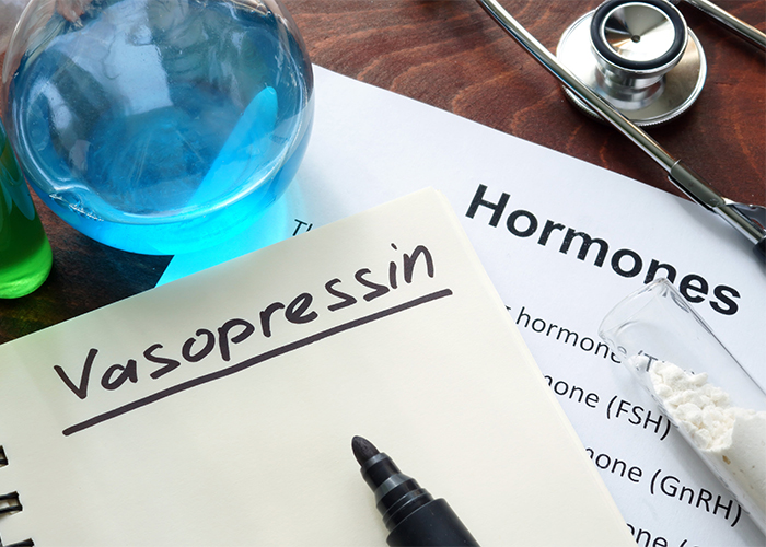 hormone vasopressin written on notebook