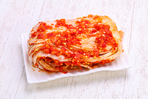 a plate of kimchi
