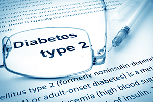Close up of the words Diabetes Type 2