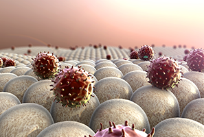 graphic image of macrophage immune cells